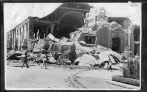 Antigua Catedral de Chillán, post terremoto de 1939